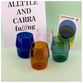 彩色硼硅玻璃杯ins风简约文艺好看的水杯个性家用