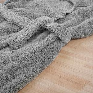 朵朵可可家居服睡袍女冬加厚加长款珊瑚绒简约大翻领保暖浴袍