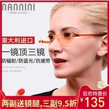 Imported High Definition Blue-light and Radiation-proof Presbyopic Glasses for Men and Women Fashion Light and Thin Computer Eye Protection and Fatigue Presbyopic Glasses