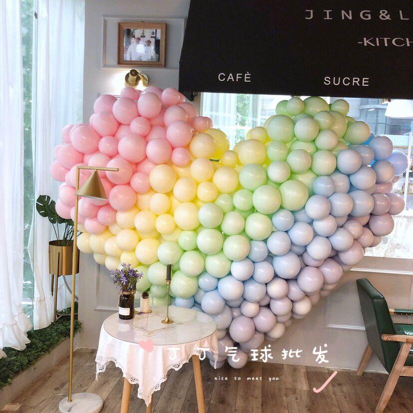 券后6.80元ins马卡龙气球北欧风糖果色10寸网红加厚乳胶气球婚礼生日派对