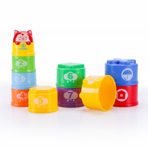 Valley Rain Sound and light rainbow Stacked Cup set cup layer cascade culture hands-on brain ability puzzle toy hand-eye coordination