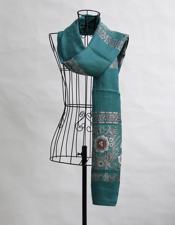 柬埔寨进口 古法手工纺织丝巾 围巾 长披肩 花纹款