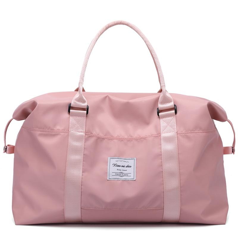 小米世家大容量女士手提旅行包健身出差行李包穿拉杆包轻便收纳包