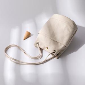 元本良厂帆布包女 百搭ins时尚单肩文艺小清新简约斜挎女式水桶包