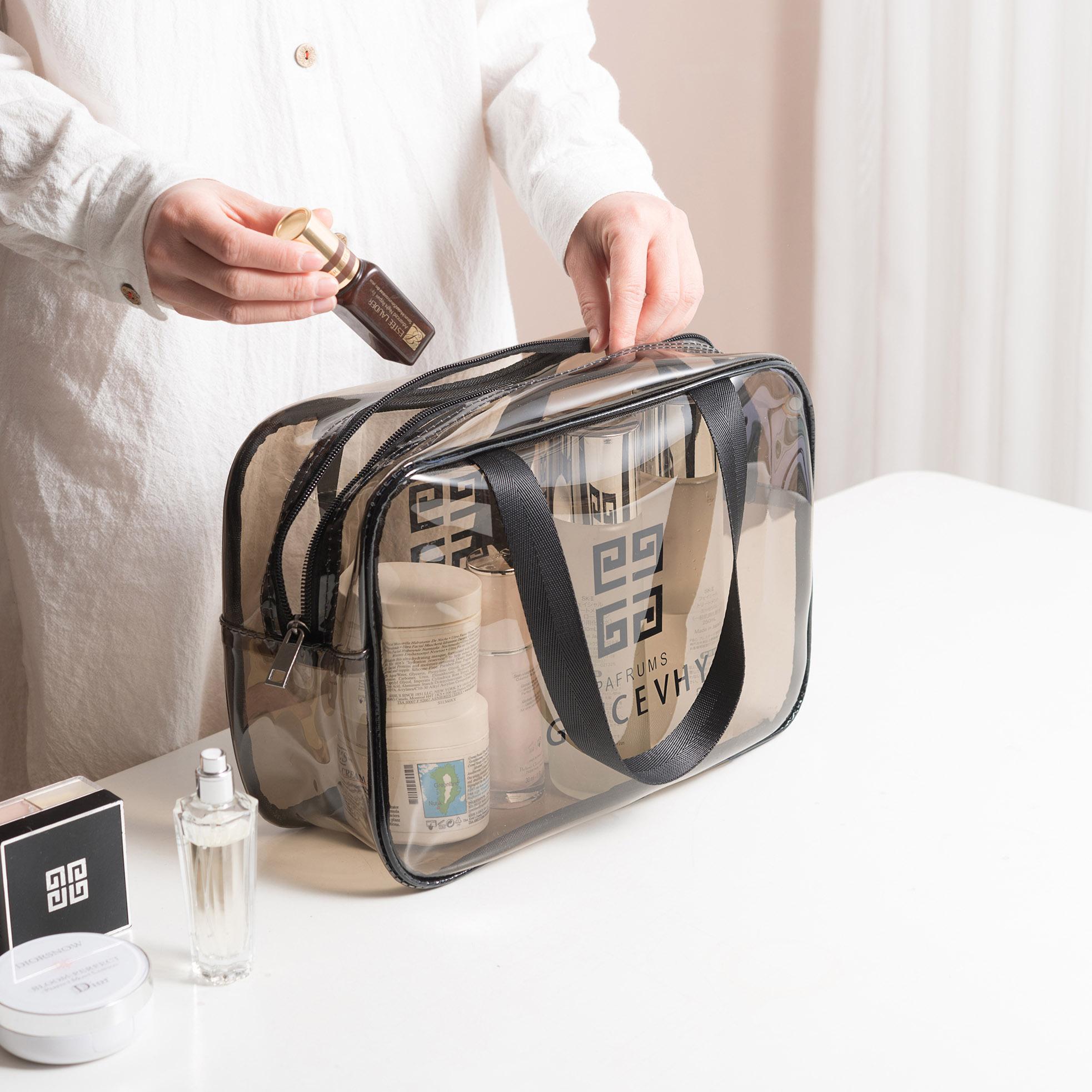 防水透明化妆包女网红大容量旅行少女便携随身洗漱包化妆品收纳袋
