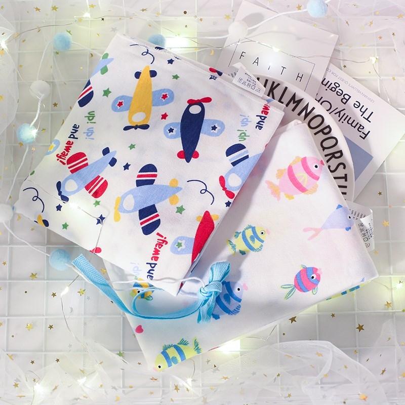 婴儿包巾外出包裹被单纯棉襁褓抱被全棉宝宝浴巾盖巾包裹薄款盖毯,可领取2元天猫优惠券