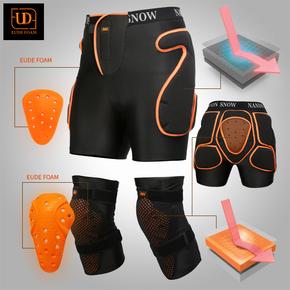 男女滑雪护臀护膝滑雪护具套装单板滑雪护臀裤滑雪护膝成人防摔裤