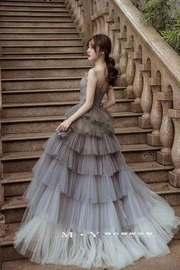 出租新娘结婚婚纱礼服年会主持正品旅拍婚纱照片性感气质显瘦