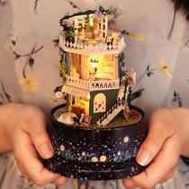 音乐盒八音盒女生女孩生日礼物送女友手工儿童diy木质天空之城