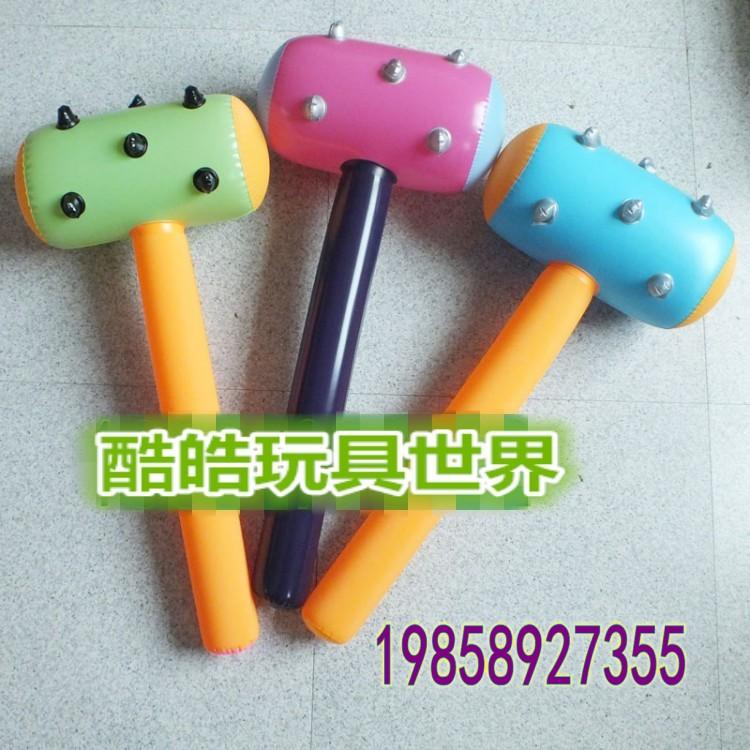PVC儿童充气玩具狼牙锤批发  锤子充气长锤棒充气儿童锤子玩具