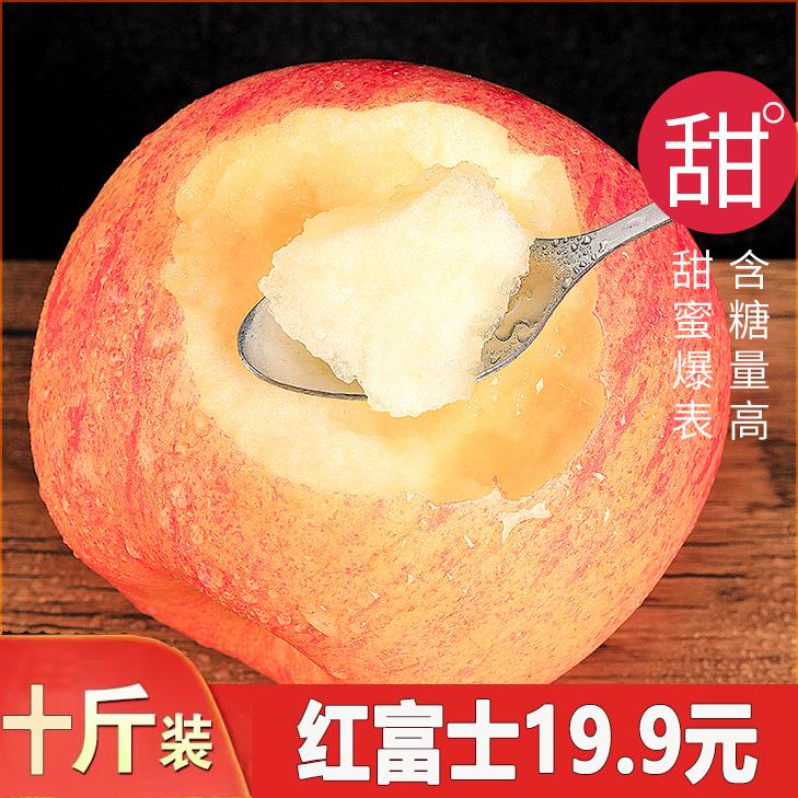 Shandong Yantai Qixia Red Fuji apple crisp sweet pregnant woman fruit fresh red Fuji Apple 10 jin package