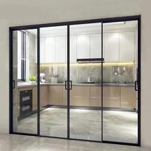 极窄边推拉门阳台厨房客厅铝合金折叠门推拉门隔断玻璃门移门定制