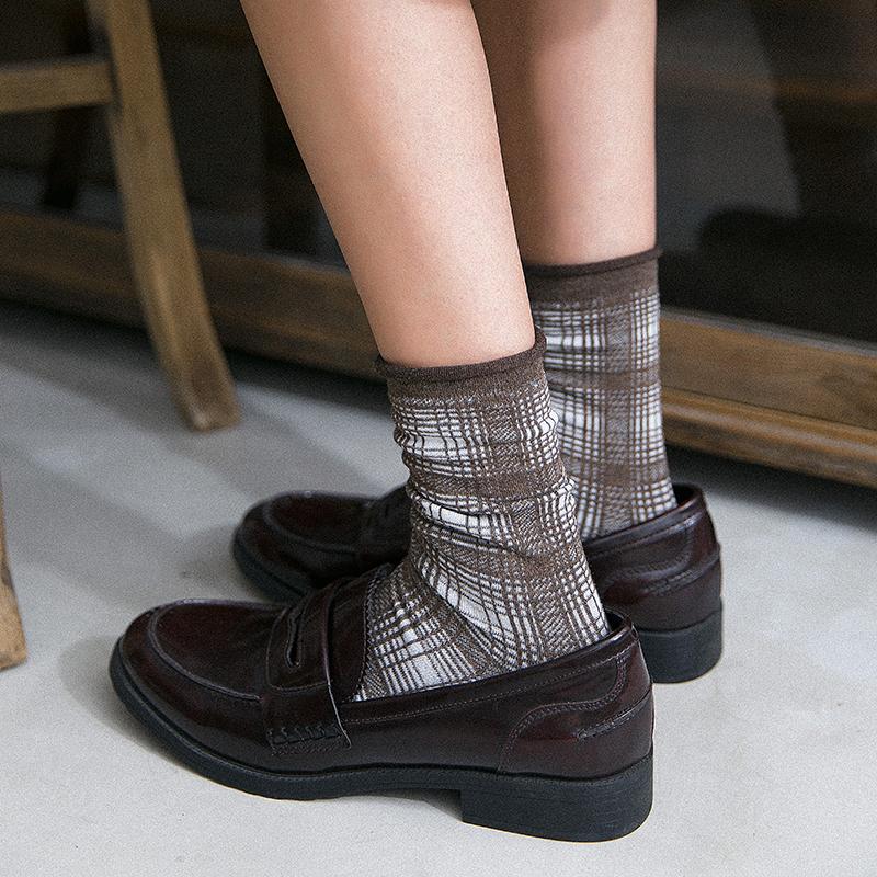 (用2元券)3双装春秋英伦风复古百搭口堆堆袜