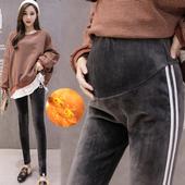 孕妇裤秋冬保暖铅笔裤时尚托腹双面绒黄金绒打底裤修身冬款小脚裤