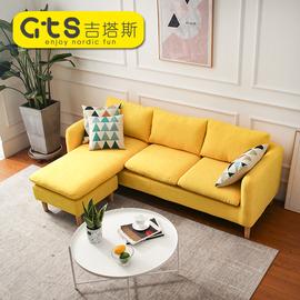 欧式简易客厅沙发双人三人贵妃位组合套装简约布艺小户型现代家具图片