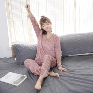 实拍8506#韩版2018秋冬款金丝绒睡衣两件套装休闲家居服女可外穿