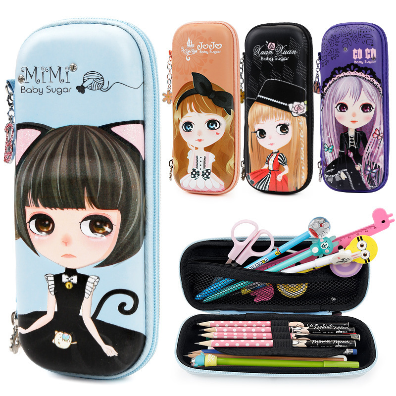 Xiguatarang 252886 lovely girl, big eye fairy pen bag, princess with diamond stationery box, pen in pencil box