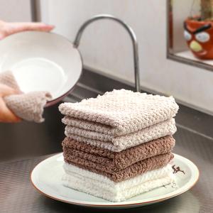 抹布素色珊瑚绒帕帕巾强吸水擦手巾 厨房家务清洁小方巾洗碗巾