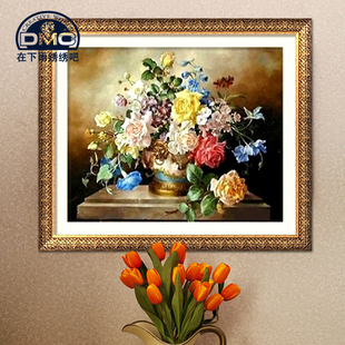 Authentic French DMC cross stitch kits embroidery mixed substantial living room home decoration paintings painting Rainbow Rose