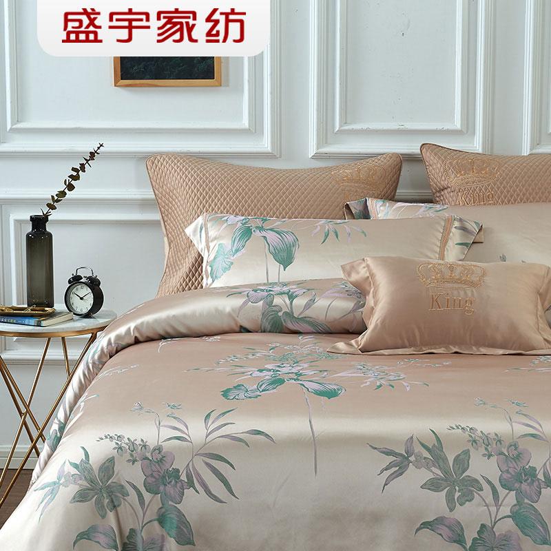 盛宇家纺全棉长绒棉七件套欧式提花床上用品7件套件单双人床安夏T