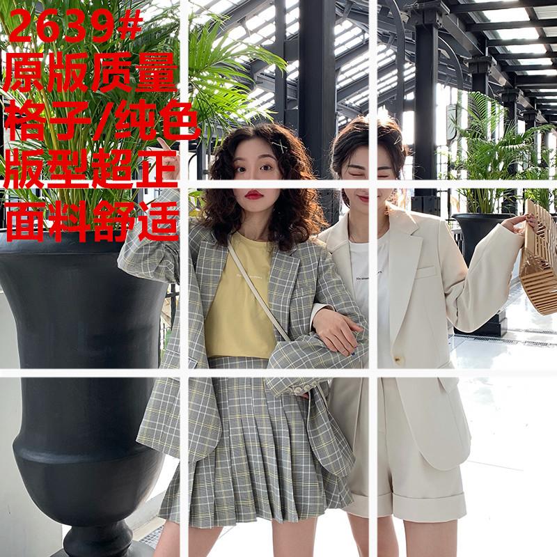 FFAN泛泛 3/18 10:00AM 西装外套/短裤/百褶裙 格子/纯色 4色入