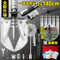 Military Shovel multifunctional outdoor shovel engineering shovel Chinese military version of raw products military engineering manganese steel field survival equipment