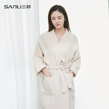 Sanli pure cotton gauze bathrobe for men and women in autumn