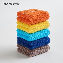 三利純棉卡通全棉洗臉面巾吸水兒童毛巾童巾3條裝
