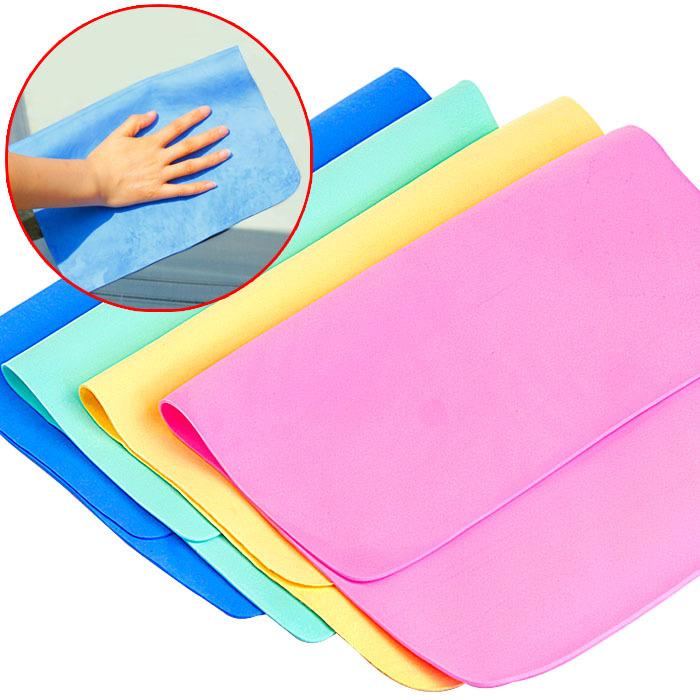多功能鹿皮擦车巾 干发吸水毛巾鹿皮巾 柔软洗车巾清洁巾