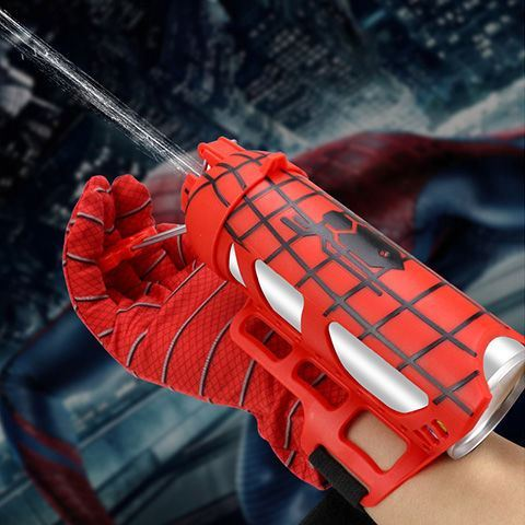 Spider launcher black technology auto parts animation role play gloves trend spinneret performance cable