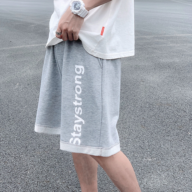 Summer letter sports shorts mens loose cotton pants trend comfortable sports pants knitted pants mens pants