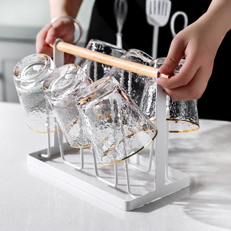 川岛屋金边日式ins家用玻璃杯子