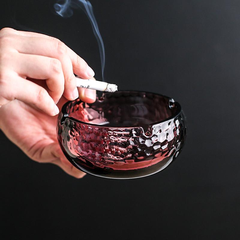 川岛屋水晶玻璃烟灰缸家用客厅创意个性潮流轻奢高档时尚可爱ins Изображение 1