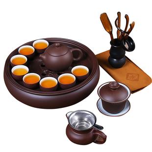 紫砂功夫茶具套裝家用客廳小套簡約潮汕陶瓷茶盤茶壺茶杯泡茶套裝