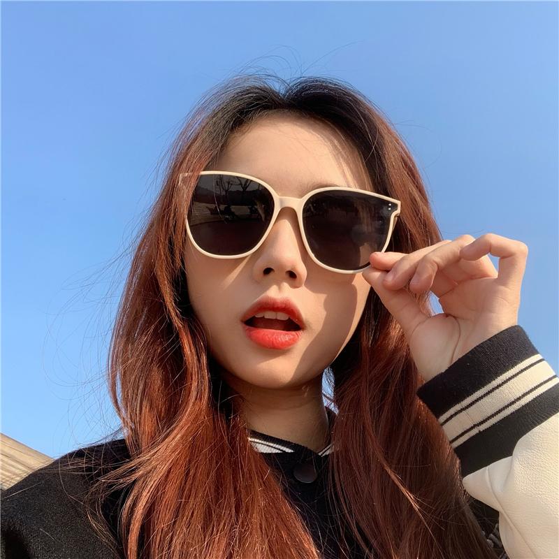 蕉下墨镜折叠琥珀韩国墨镜女夏防晒ins大脸显瘦防紫外线复古太阳