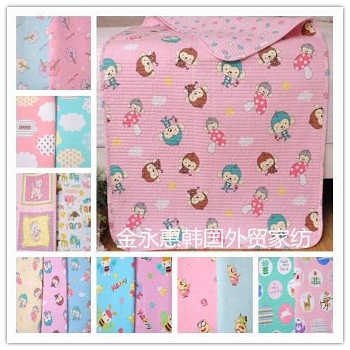 韩国纯棉卡通印花抱被小垫子小被子密道水洗抱被幼儿尿垫月经护垫