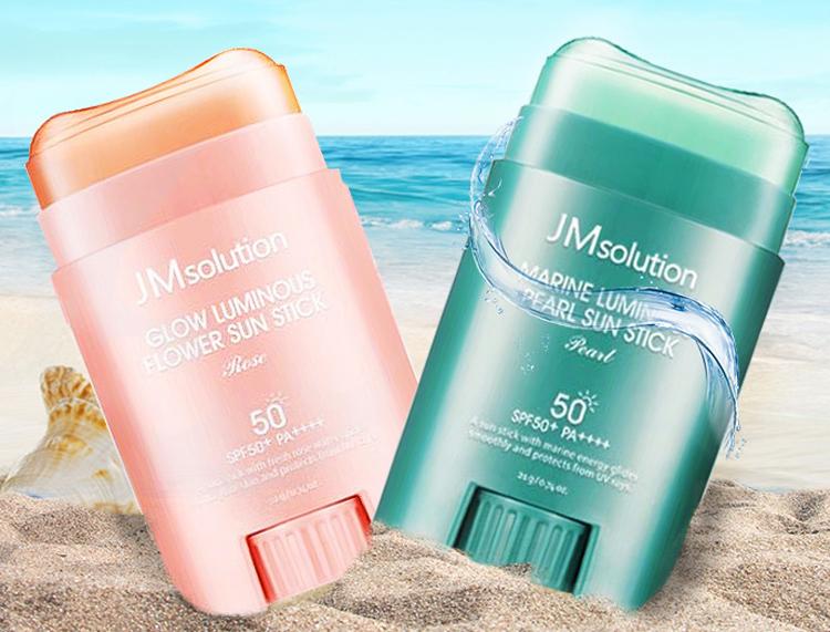 New Korean JM solution Sea Pearl Rose whole body sunscreen stick 21g spf50+