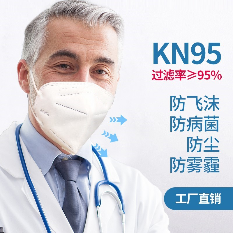 Kn95 protective mask breathable dust haze pollen non disposable N95 mask five layer independent fit beiyishu
