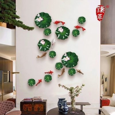 Creative Three Dimensional Wall Hangings Living Room Dining Room Porch  Hotel Wall Hanging Fish Wall Decoration ...