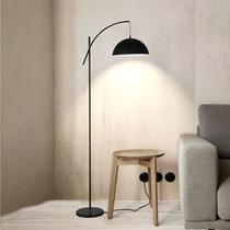 书房卧室灯水晶挂坠客厅灯银色后现代感灯罩LED简约落地灯K9大号