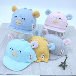 婴幼儿帽子春夏薄款宝鸭舌帽6个月-2岁1可爱遮阳春天男女童棒球帽图片