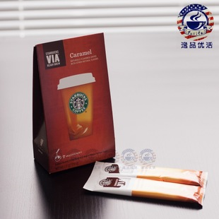 US version of Starbucks Via instant coffee Starbucks Caramel 15 g in 14 years in May