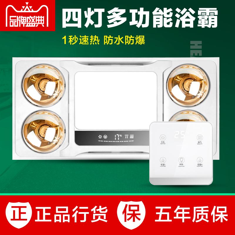 雷仕照明灯暖浴霸排气扇三合一体集成吊顶浴室厕所洗澡卫生间取暖