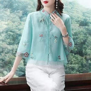 复古中国风民国改良旗袍中式女装唐装上衣外套2020春夏装