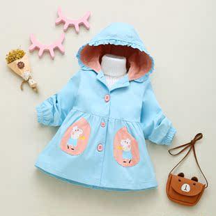 女童外套春裝2019新款1洋氣2小女孩3歲春秋4嬰兒公主兒童寶寶風衣