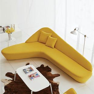 大堂月亮沙发创意沙发组合圆型沙发弧形异形酒店大厅办公沙发