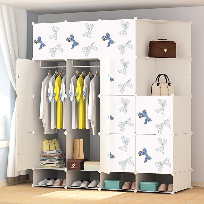 简易衣柜简约现代经济型组装塑料多功能布艺便携式收纳储物小柜子