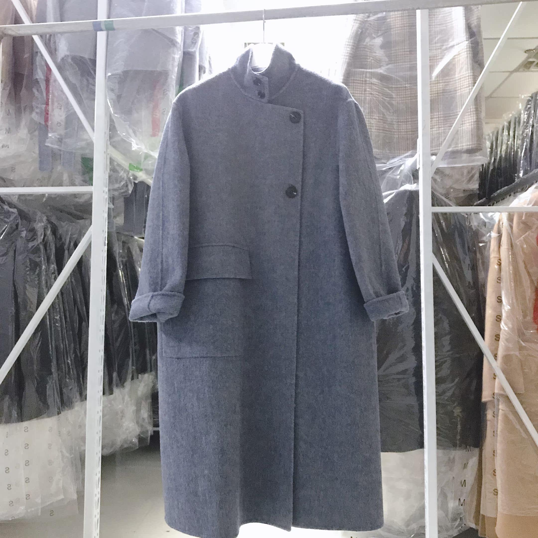双面羊绒大衣女中长款反季毛呢大衣女新款2019流行外套羊毛大衣女