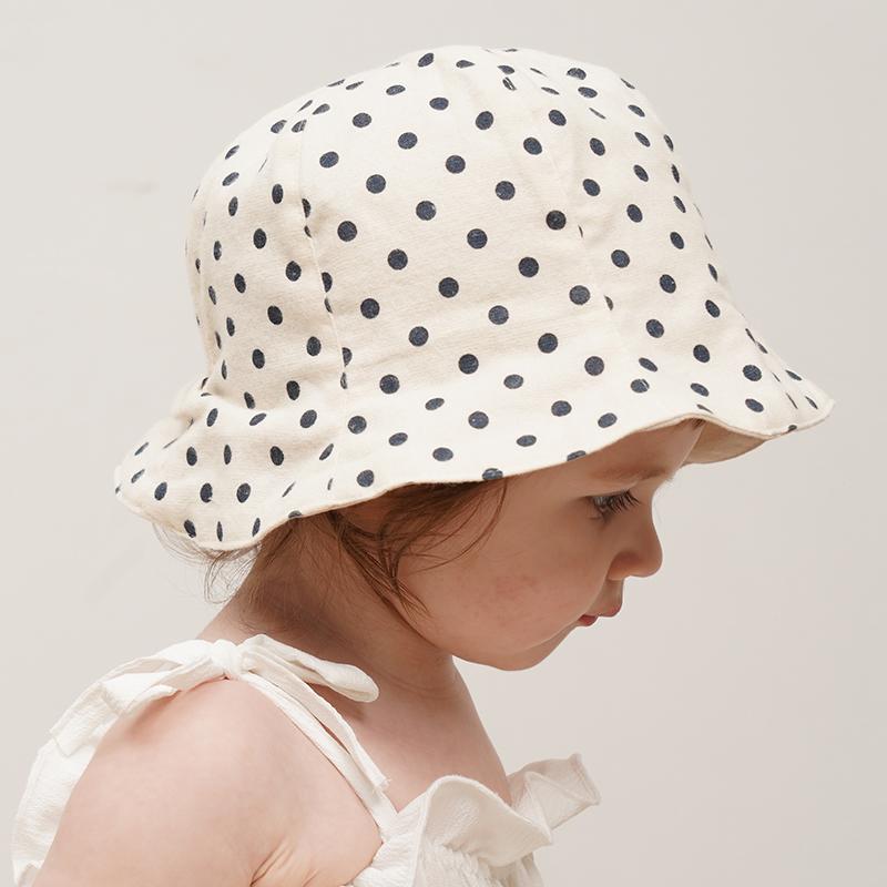 韩国进口婴儿遮阳帽子夏季薄款儿童防晒帽宝宝渔夫帽男女童帽纯棉图片