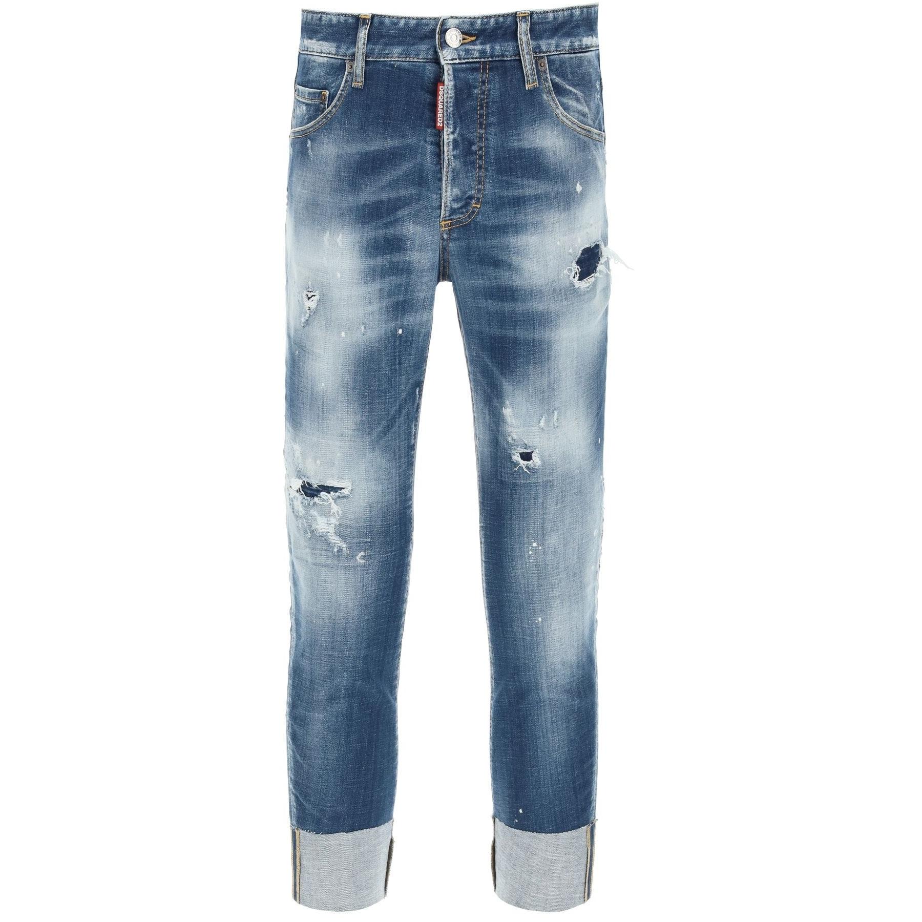 Dsquared2 男士 Sailor FIt牛仔裤低腰修身 正品代购 S74LB0955